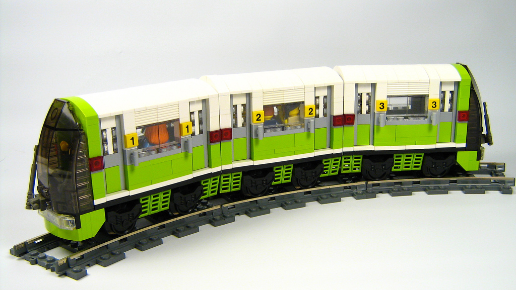 finished chibi subway train by  Nathan Proudlove on flickr