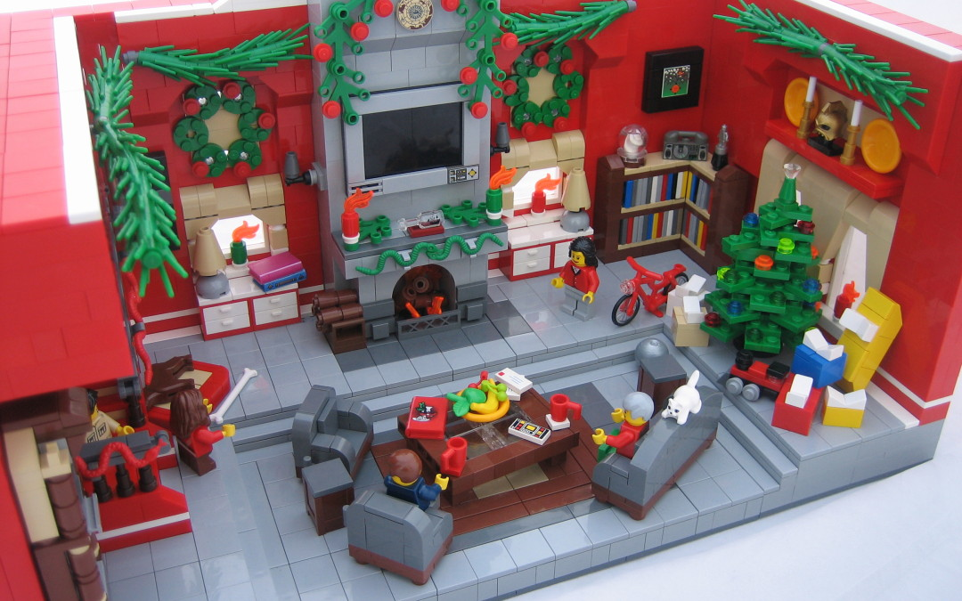 Christmas MOCs with Red LEGO Bricks